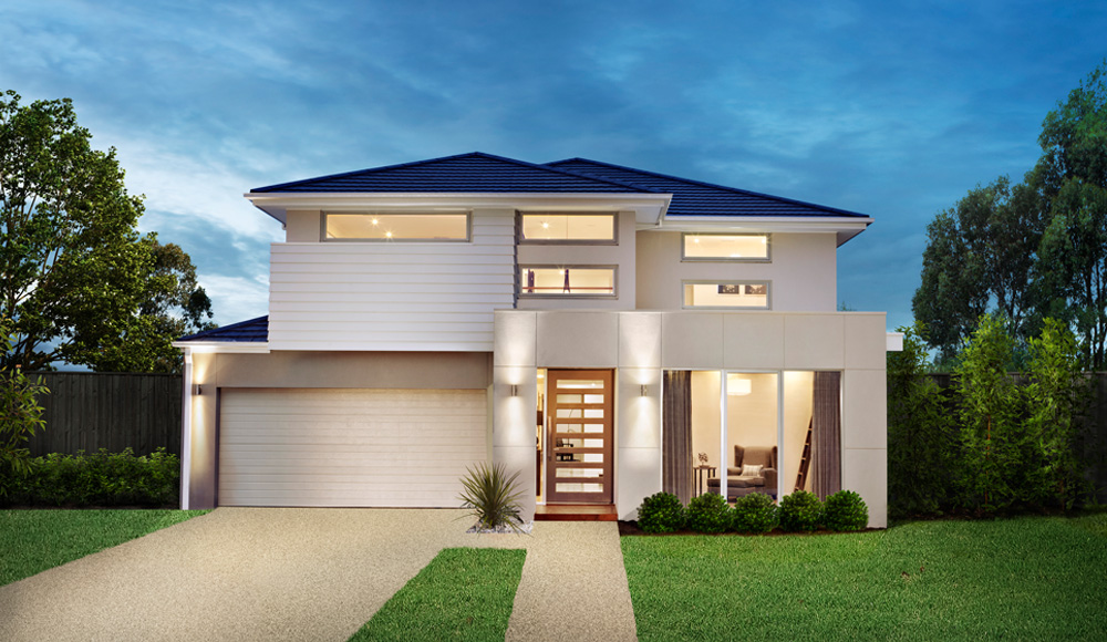 Custom home builder sydney facades newport homes for Double story home designs melbourne